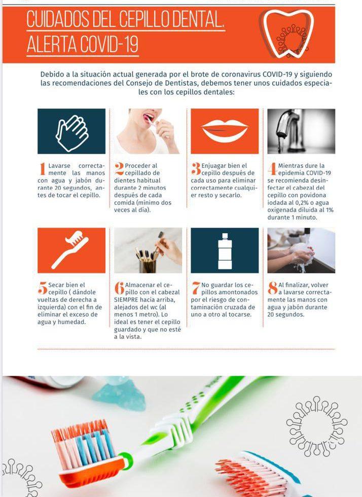 consejos cuidado cepillo dental cov